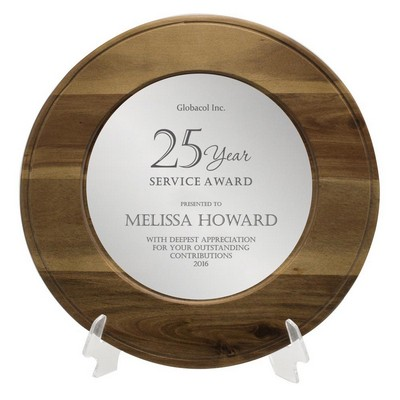 Personalized Years of Service Award Wooden Plate