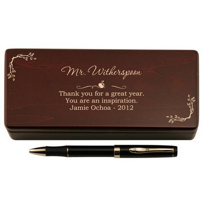 Pen for Teacher in Personalized Wooden Case