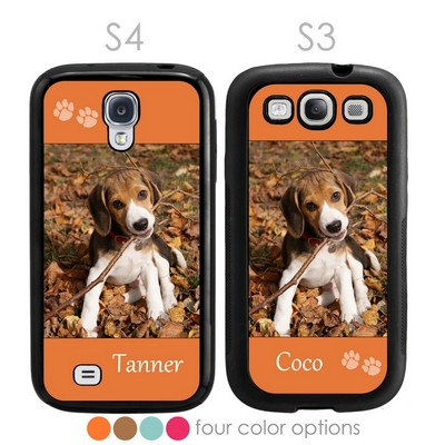 Paw Prints Personalized Pet Photo Galaxy S3-S4 Case