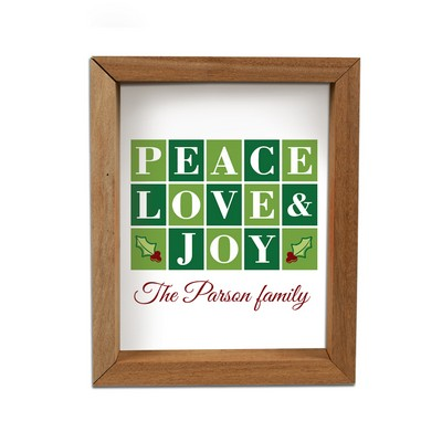 Peace, Love and Joy Framed Shadow Box
