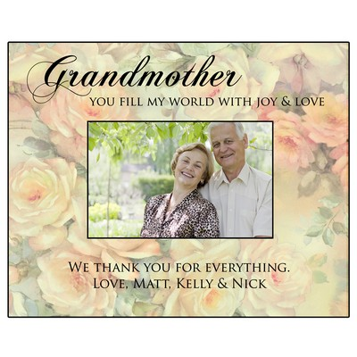 Personalized 4x6 Flower Photo Frame for Grandmother