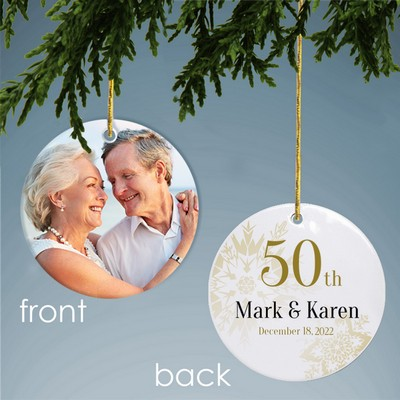 Personalized 50th Anniversary Photo Ornament