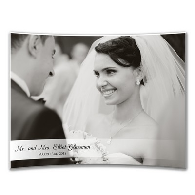 Personalized 8 x 10 Wedding Curved Acrylic Photo Panel