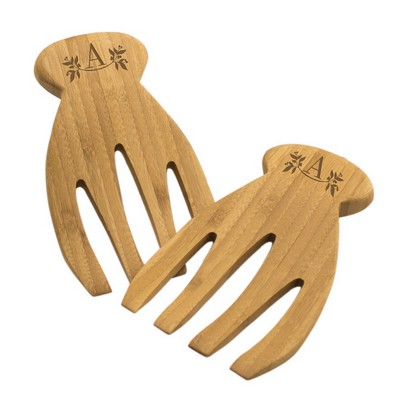 Personalized Bamboo Salad Forks