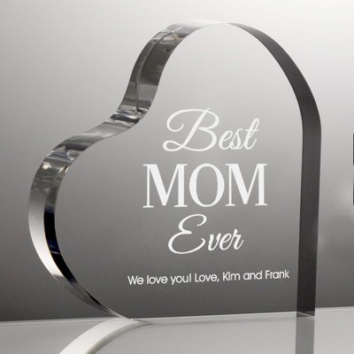 Best Mom Ever Personalized Acrylic Keepsake Heart
