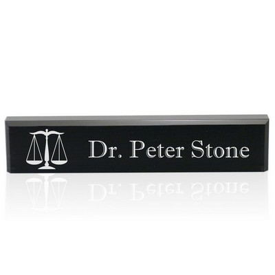 Personalized Black Acrylic Lawyer Name Nameplate