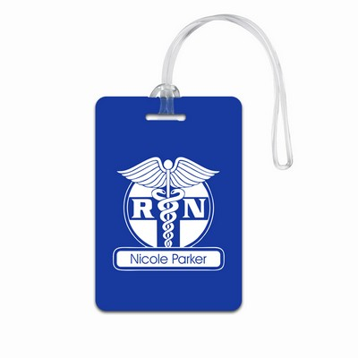 Personalized Blue Luggage Tag for Nurses RN