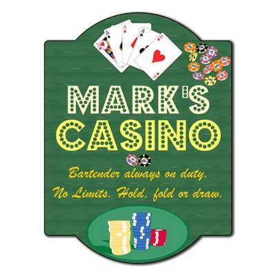 Personalized Casino Poker Sign