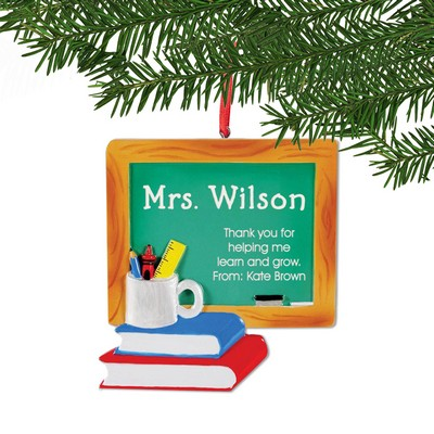 Personalized Chalkboard Ornament for Teachers