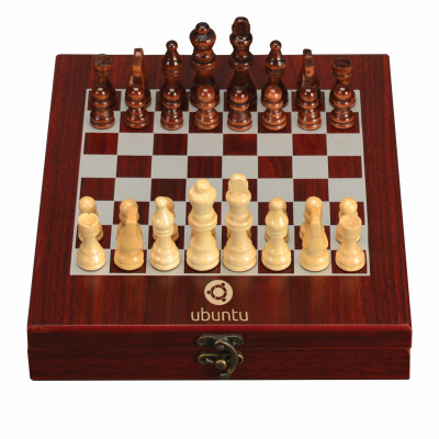 Personalized Chess Set in Rosewood Box with Your Logo