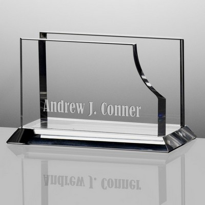 Personalized Crystal Desktop Business Card Holder