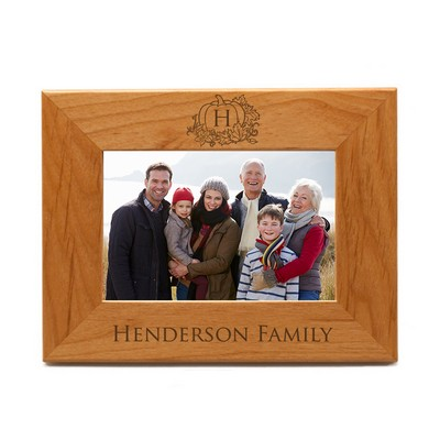 Personalized Fall Wooden 4x6 Photo Frame