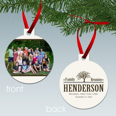 Personalized Family Reunion Photo Ornament - Personalized Christmas Ornaments Custom Christmas Ornaments