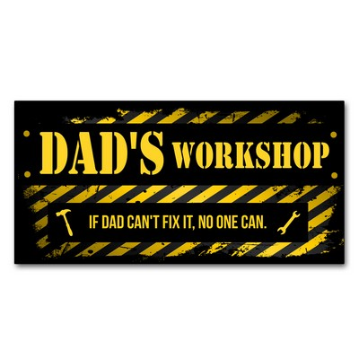 Personalized Workshop Wall Sign for Dad's