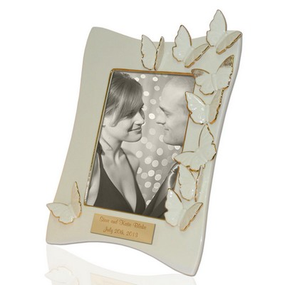 Personalized Flutter 5x7 Frame with Butterflies by Lenox