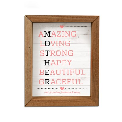 Personalized Mother's Acronym Framed Shadow Box