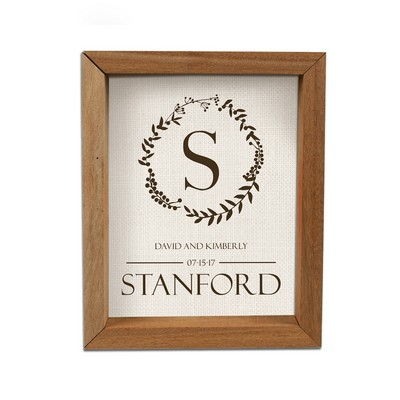 Personalized Framed Shadow Box for Couples