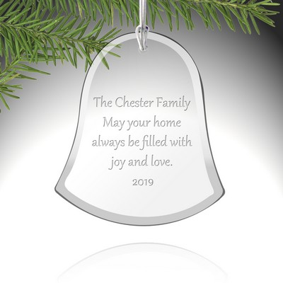 Personalized Glass Bell Ornament