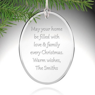 Personalized Glass Oval Ornament