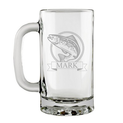 Personalized Glass Trout Stein