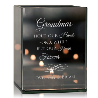 Personalized Grandmothers Reflective Tealight Candle Holder