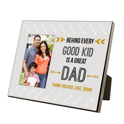 Personalized Greatest Dad 4 x 6 Photo Frame