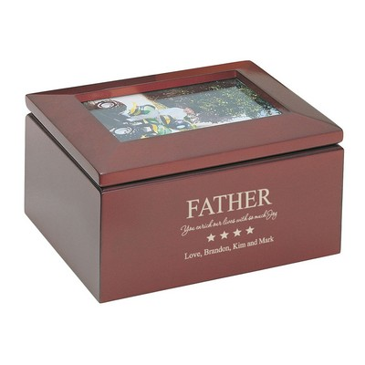 Personalized Keepsake Box with Picture Frame for Dad  sc 1 st  Memorable Gifts & Personalized Fatheru0027s Day Gifts Desk Plaques Clocks u0026 More