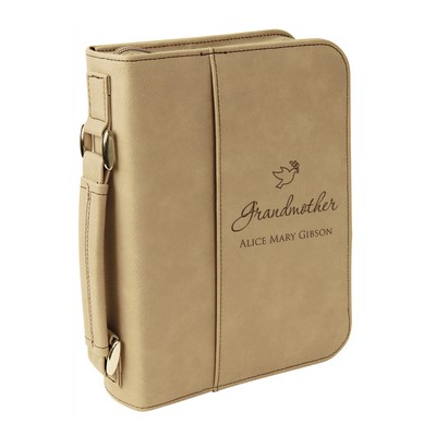 Personalized Grandmothers Light Brown Leatherette Bible Cover