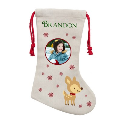 Personalized Little Reindeer Christmas Stocking
