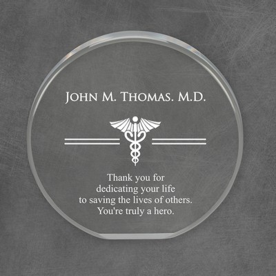 Special Personalized Medical Round Acrylic Plaque
