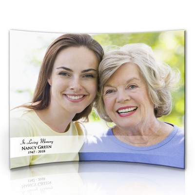 Personalized Memorial 8 x 10 Curved Acrylic Photo Panel