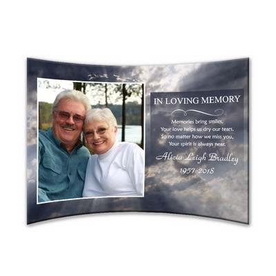 "Personalized Memorial Curved Acrylic 5"" x 7"" Photo Panel"