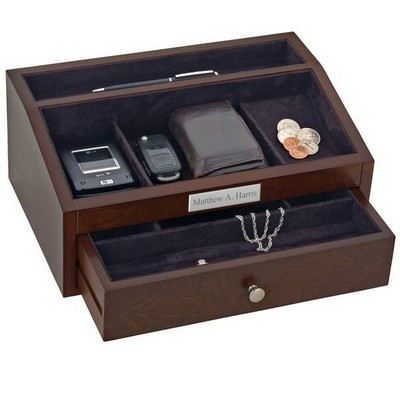 Personalized Mens Jewelry Chest with Drawer