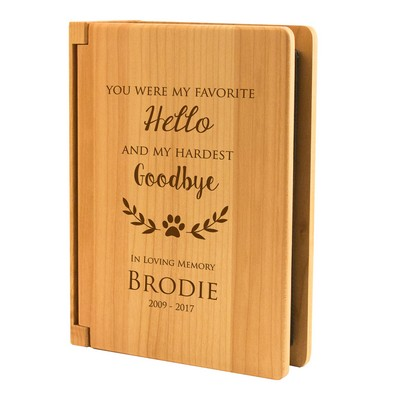 Personalized Pet Memorial Wooden Photo Album