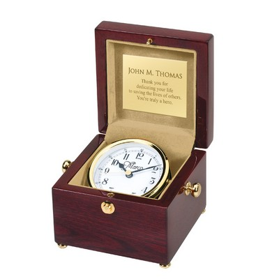 2351c3d29eab6 Exceptional Personalized Piano Finish Clock in Wood Box