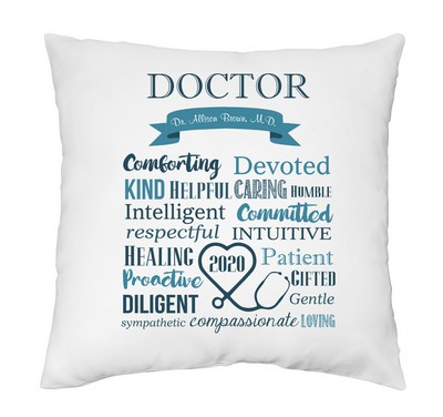 Admirable Personalized Pillow Case for Doctors