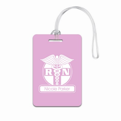 Personalized Pink Luggage Tag for Nurses