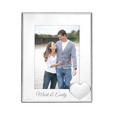 "Personalized Precious Heart 5"" x 7"" Silver Picture Frame"
