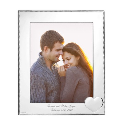 "Personalized Precious Heart 8"" x 10"" Silver Frame"