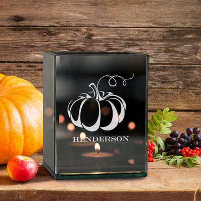 Personalized Pumpkin Tea Light Candle Holder