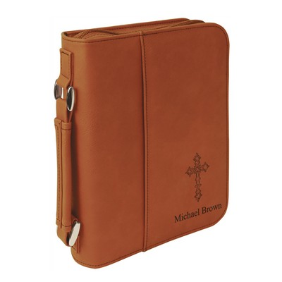 Rawhide Leatherette Personalized Bible Cover with Handle