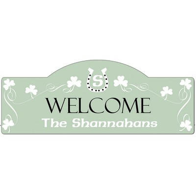 Personalized Shamrock Door Sign