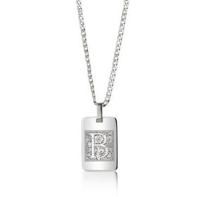 Stunning Personalized Silver Pendant Necklace with Initial for Her