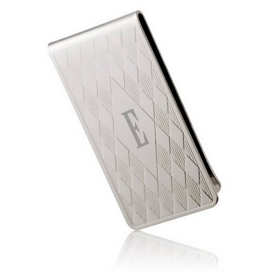Silver Plated Harlequin Money Clip - ON CLEARANCE WHILE SUPPLIES LASTS