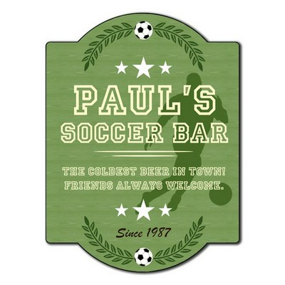Personalized Soccer Bar Sign