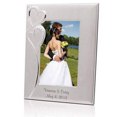 Personalized Wedding Romance Silver 5x7 Picture Frame