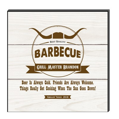 Personalized White Grill Master Wall Decor