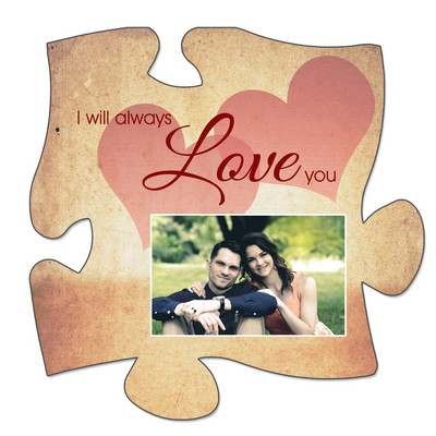 Personalized Love Puzzle Wall Plaque for Couples