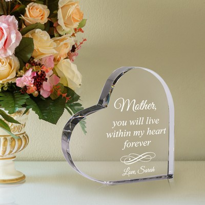 Personalized Crystal Keepsake Heart for Mother