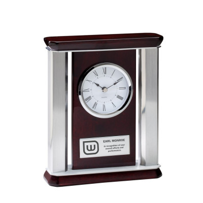 Piano Finish Rosewood Recognition Clock
